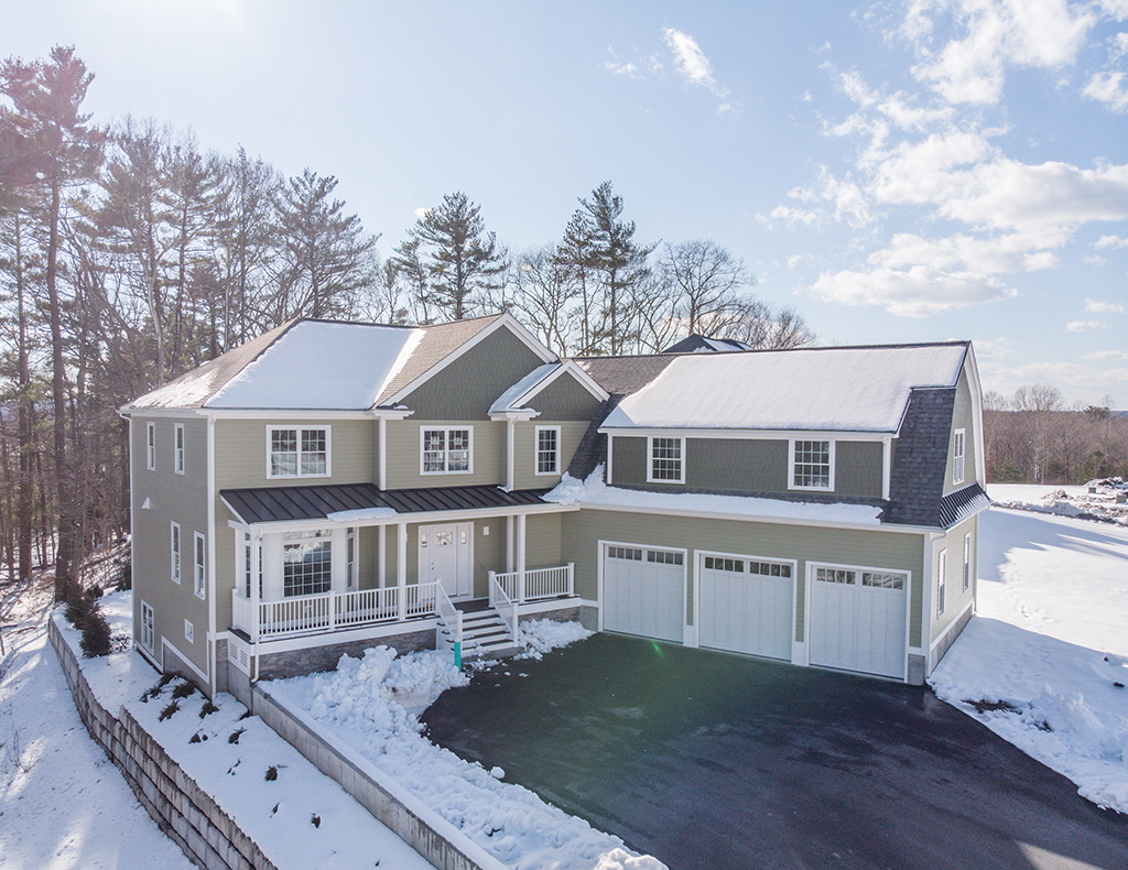 Aerial Photograph of 26 Hedgerow Lane, Westwood MA