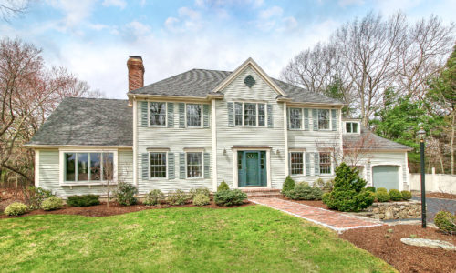 Front Exterior Photograph of 15 Morgan Farm Road in Westwood, MA