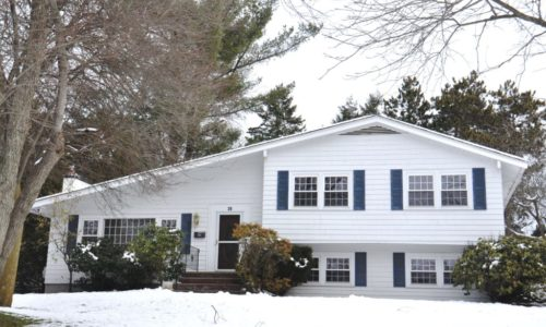 Front Exterior Photograph of 28 Phillips Brooks Road in Westwood MA