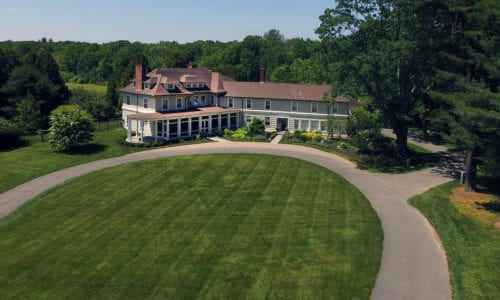 Aerial View of 665 Clapboardtree Street in Westwood MA