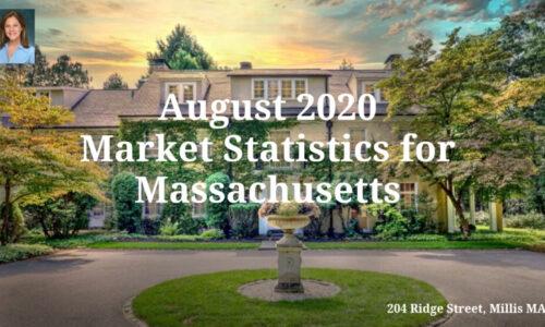 Screenshot of August 2020 Market Statistics for Massachusetts Video